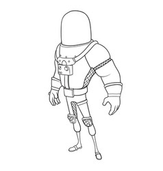 silhouette of a space suit vector image