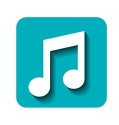 sound music symbol vector image
