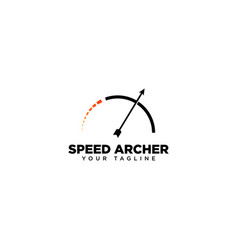 Speed archer logo design template vector