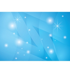 star background with blue abstractions vector image
