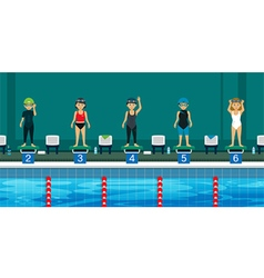 Swimming competitions vector image vector image