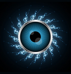 Technology cyber security eye light vector