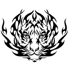 Tiger image design tattoo emblem tiger vector