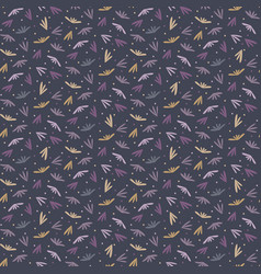 Tiny leaf moody ditsy seamless pattern modern all vector