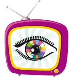 Tv screen eye vector