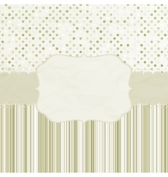Vintage dots card vector image vector image