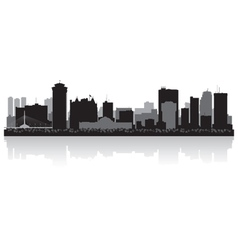 Winnipeg Canada city skyline silhouette vector