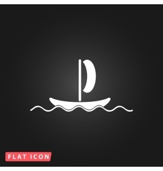 Yachts flat icon vector