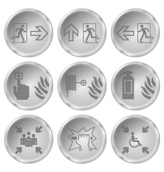 Fire Escape Icons vector image