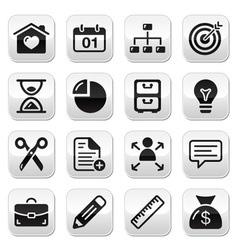 Internet web buttons set vector image