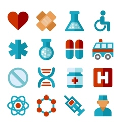 Medical Icons Set in Flat Style vector image vector image