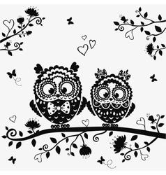 owl black vector image vector image