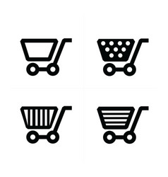4 styles shopping cart icons vector image
