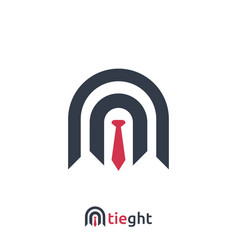 abstract business logo with tie sign design vector image