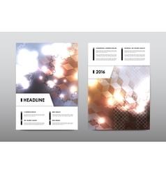 Brochure layout template flyer design vector image
