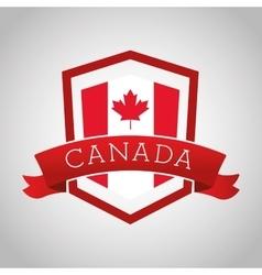 Canadas County design Maple leaf icon Shield vector image
