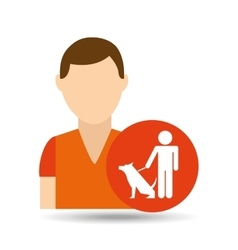 character pet training sitting vector image