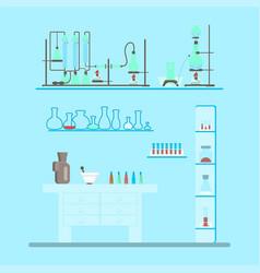 chemistry lab test vector image