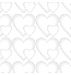 low contrasting heart patterns seamless vector image vector image