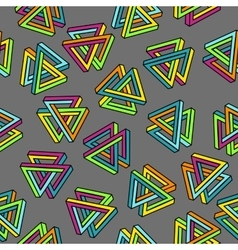 Pattern 80s Geometric Seamless Abstract vector image vector image
