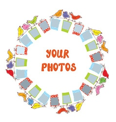 Photo frame composition - funny design vector image vector image
