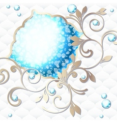 emblem in vibrant blue on white vector image