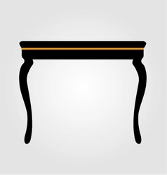 Modern wooden coffee table elevation vector image vector image