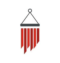 Wind chimes icon flat style vector image