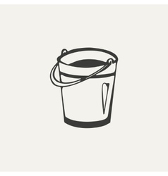 bucket Black and white style vector image vector image