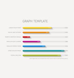 column horizontal graph template vector image vector image