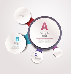 Design circle template vector image