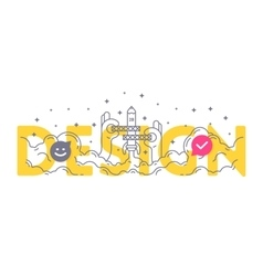 Design word concept Business lettering typography vector image