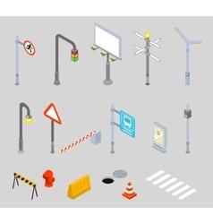 Isometric traffic management Urban 3D vector image