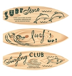 set of surf logos vector image