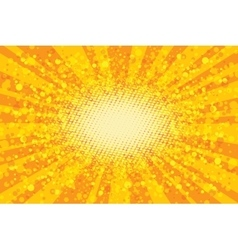 Yellow abstract pop art background retro rays vector image