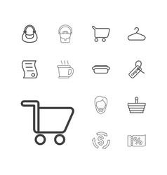13 shop icons vector