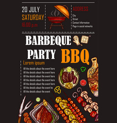 A bbq menu template vector