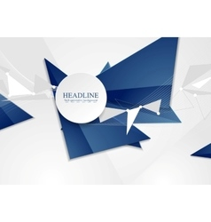 Abstract blue tech polygonal background vector
