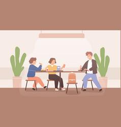 adolescent children spend time together during vector image