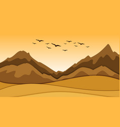Background scene with sand and hills vector