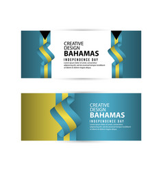Bahamas independent day poster creative design vector