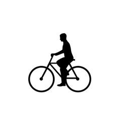 bicyclist web icon vector image