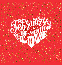 big heart with lettering about love phrase for vector image