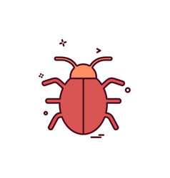 bug icon design vector image