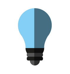 bulb cartoon flat shadow vector image