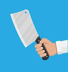 butcher knife kitchen cleaver knife for meat vector image