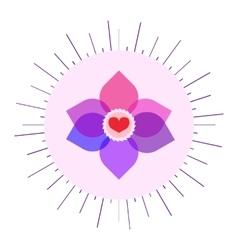 Bysexual colors sunny symbol vector