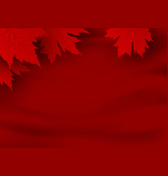 canada day banner design red maple leaves vector image