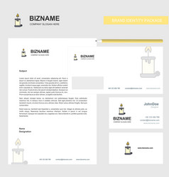 Candle business letterhead envelope and visiting vector