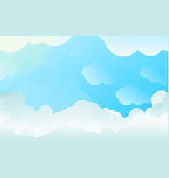 Clouds background with copyspace gradient vector